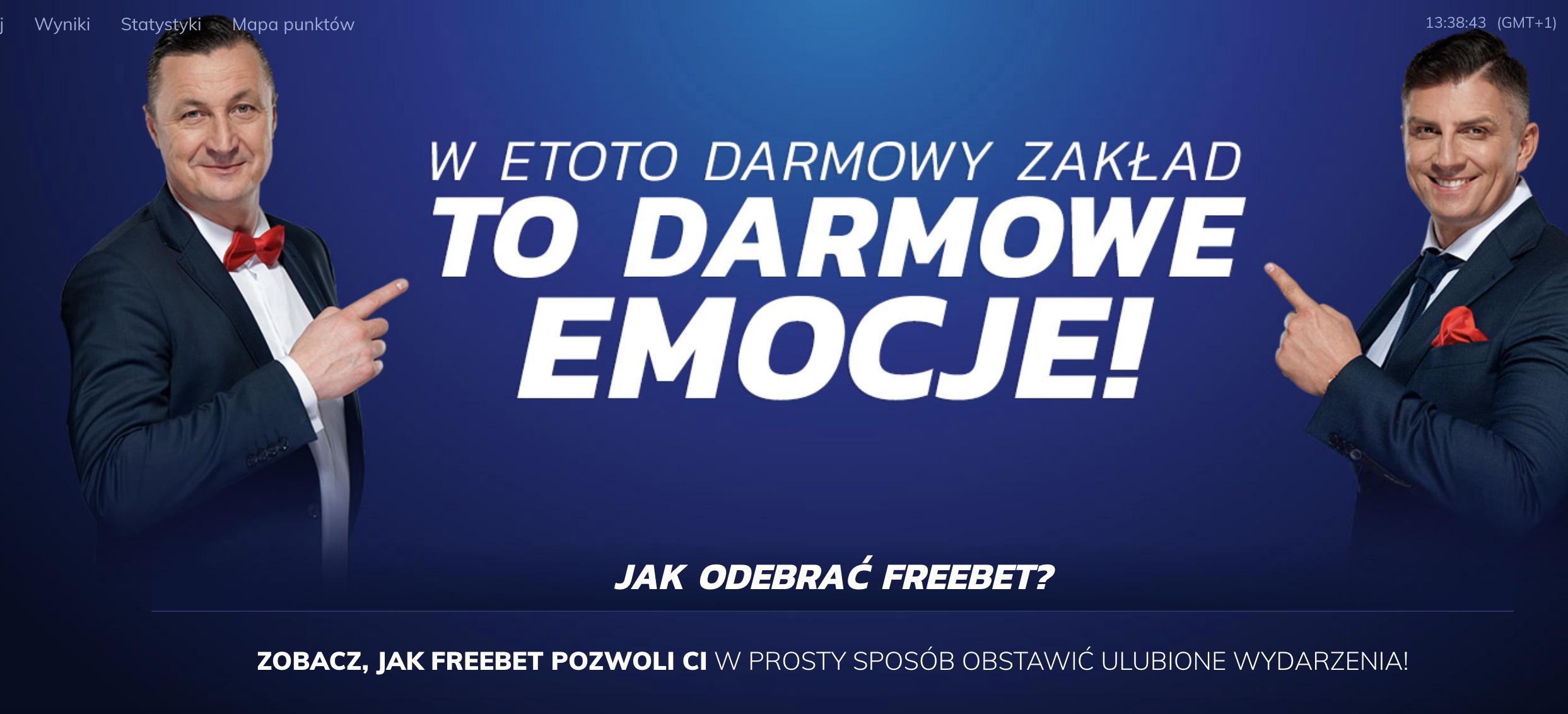 Darmowy freebet 10 PLN w Etoto!